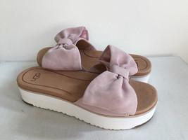 Ugg Joan Seashell Pink Platform Wedge Slide Slipper Us 9.5 / Eu 40.5 / Uk 8 - $88.83
