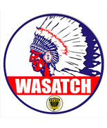 Wasatch Gasoline Reproduction Motor Oi Metal Sign 14x14 Round - $25.74