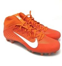 Nike Vapor Untouchable 2 Carbon Fiber Orange Football 924113-800 Men's 10.5 - $59.95