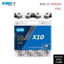 KMC 10 Speed MTB Road Bike Chain X10 X10EL X10SL 10V Bicycle Chains Extr... - $124.88