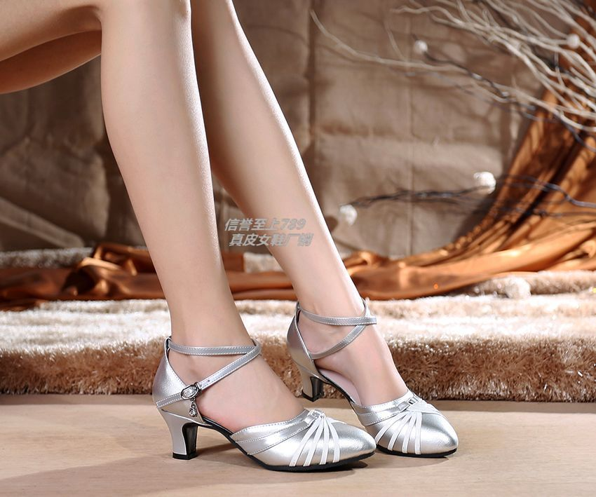 Primary image for pp359 sweet dancing pump in spell color, genuine leather,US Size 4-9,silver