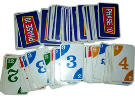 Phase 10 Card Game Replacement Pieces - (105) Cards * Mattel - $4.88