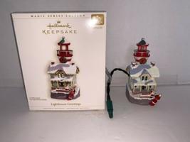 Hallmark Keepsake Ornament Lighthouse Greetings #10 In Series Light 2006 - $12.50