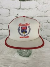 Beautiful British Columbia Trucker Hat Cap White Mesh Snapback Vintage - $29.69