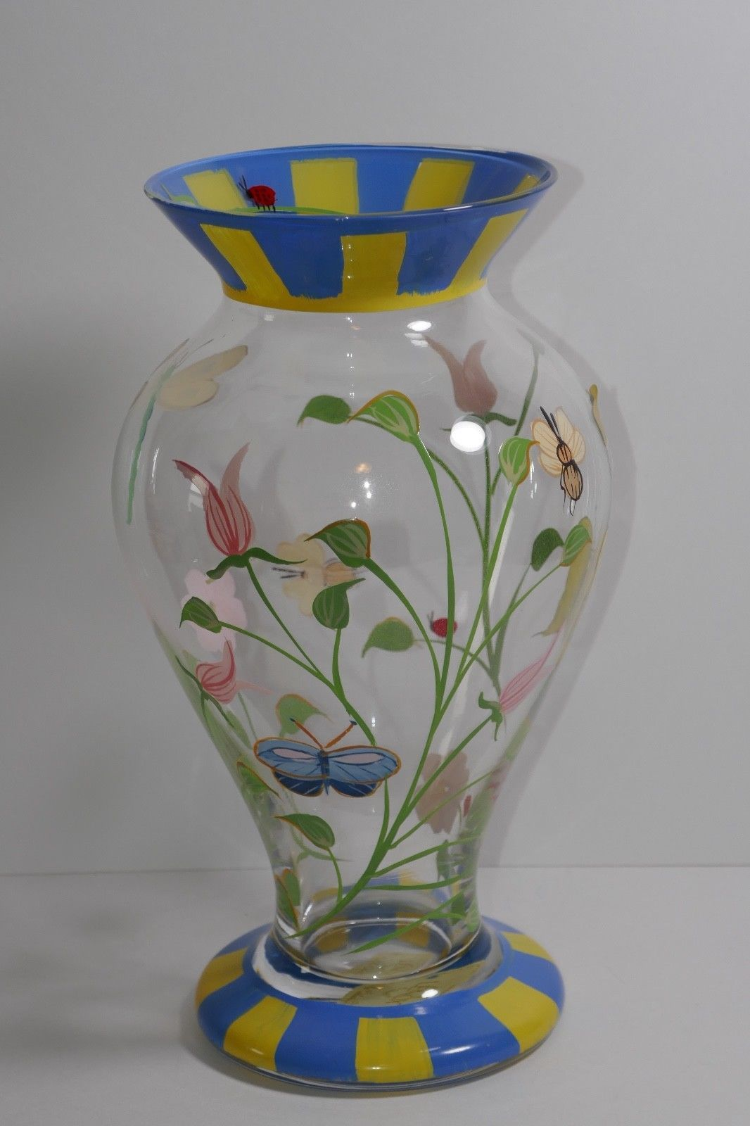 Lenox Crystal Butterfly Meadow Handpainted Vase w/Box