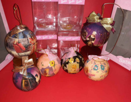 Lot Of 6 Barbie 1997 Holiday Decoupage Ornament  (2 Wooden Stand) Mattel... - $16.34