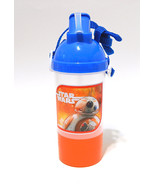 STAR WARS BB-8 Sip n Snack Container Canteen Water Bottle w Flip Straw ZAK! - $12.99