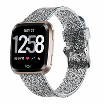 Compatible Fitbit Band Versa Bling Soft Silicone Metal Buckle Sport Wris... - $14.22