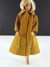 Barbie OOAK Gold Corduroy Coat with Pockets 1970s Clothing - $19.79
