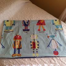 Kids Club Pillowcases Shams Robots Blue Cartoon Characters TWO Standard - $12.82