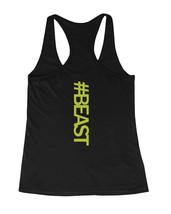 #Beast Neon Back Print Women's Work Out Tank Top Gym Sleeveless Top Beas... - $14.99+