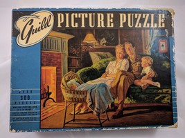 """Vintage 1940s Guild Picture Puzzle """"Home On Leave"""" 300+ Pieces 16x20 Mad... - $33.85"""