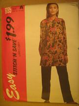 UNCUT Pattern 1992 EASY McCall SIZE Misses 10 12 14 16 PANTS Blouse 6095... - $3.99