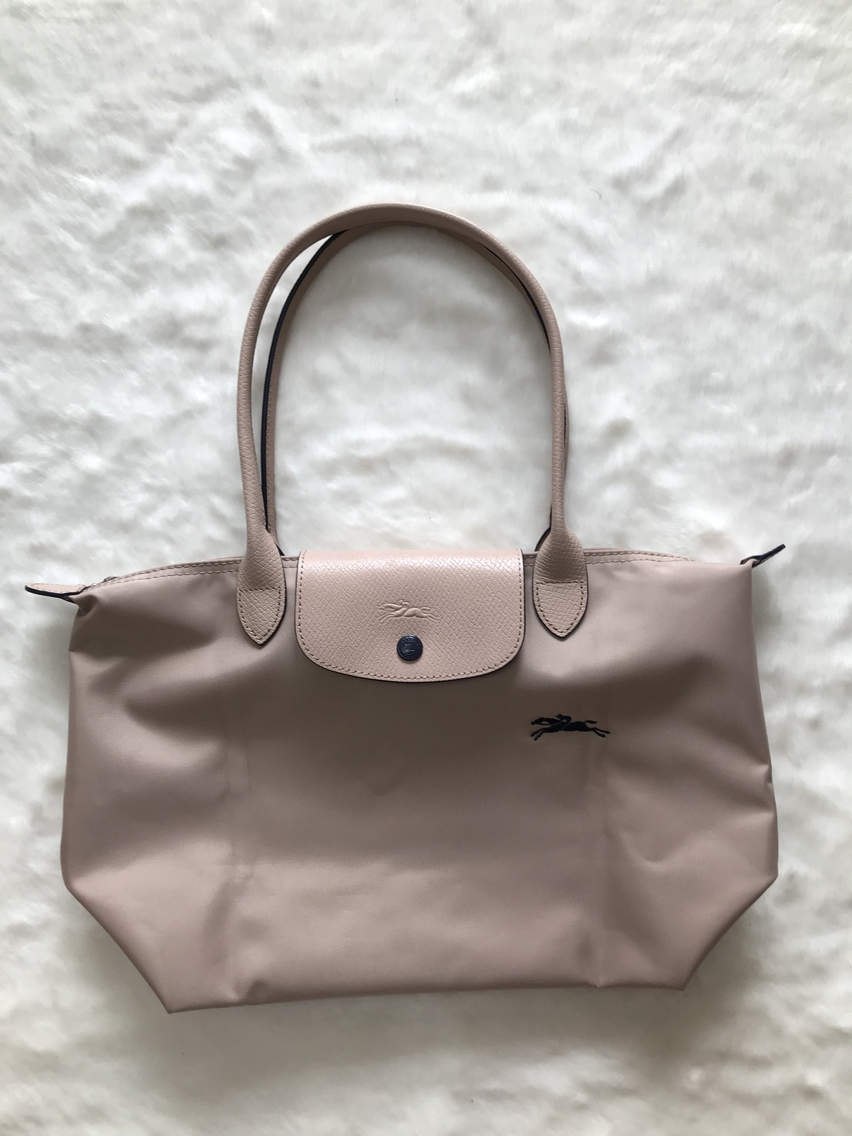 France Longchamp Le Pliage Club Collection Horse Embroidery Small Tote Hawthorn
