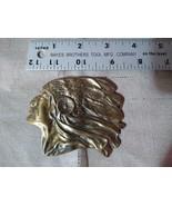 Beautiful Brass American Indian Chief Belt Buckle - $14.97