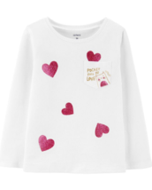 Carter's Baby Girl Top with Pocket, Size: 18 Months White - $12.99