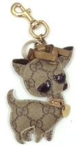 Authentic GUCCI GG Logo PVC Guccioli BRANDO Key Ring Holder Dog Chihuahu... - $45.00