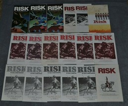 Risk: Lot of 18 Instruction Rules Booklets [Various Years] - $15.00