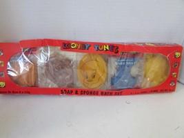 VTG LOONEY TUNES SOAP & SPONGE BATH SET DAFFY TAZ BUGS TWEETY UNUSED SALE - $3.91