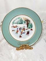 Avon christmas plate Series 1976 Skaters On The Pond Enoch Wedgwood England