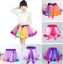 Baby Kid Girl Rainbow Tutu Skirt Tulle Princess Ballet Dance Dress Party... - $24.00