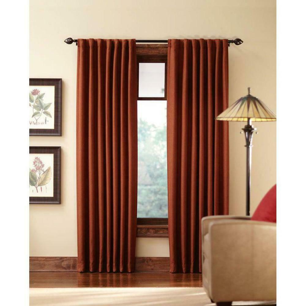 "NEW 2 Pack Tweed Room Darkening Window Panel in Terracotta 50"" x 84"" - $28.50"