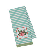 """Hibiscus Embellished Kitchen Towel Flower Leaves New 18"""" x 28"""" Dish Tea  - $14.84"""