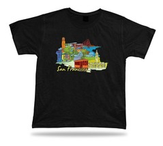 san francisco Golden Gate Bridge Coit Tower Historical Park FishermanWharf shirt - $7.57