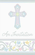 Blessed Day Cross Baptism, Christening Party Invitations 8 ct - $4.94