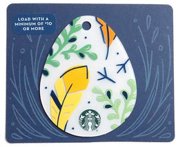 Starbucks New Empty Fillable Easter Egg Shaped Gift Card Feathers - $1.99