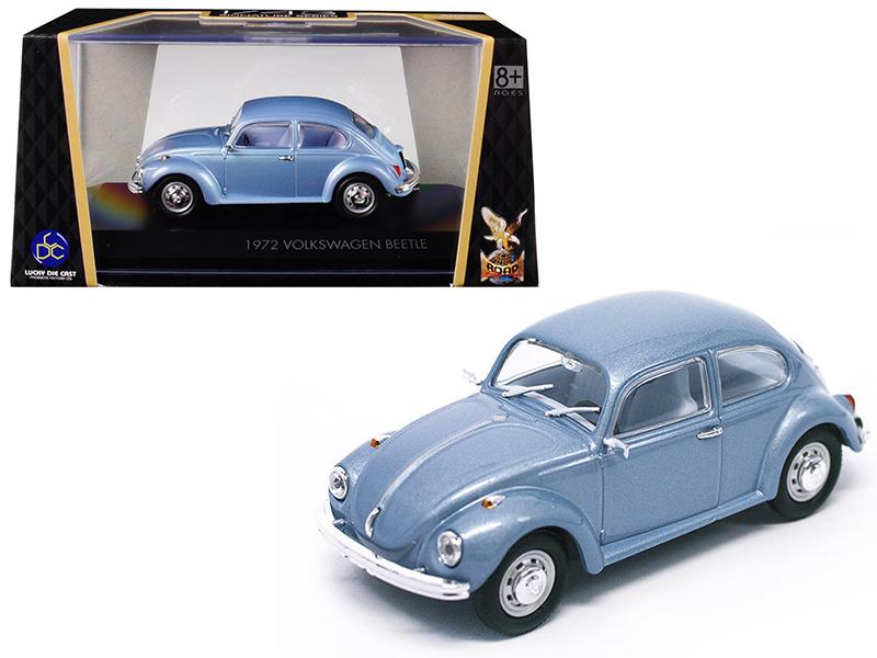 1972 Volkswagen Beetle Metallic Blue 1/43 Diecast Model Car by Road Signature - $28.69