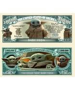 Pack of 25 - Baby Yoda Grogu Mandalorian Star Wars Novelty Dollar Bills  - $9.85
