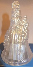 Waterford Marquis 2008 Annual Santa Bell Ornament Iridescent white #150246  - $22.77