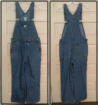 Vtg Calvin Klein Blue Denim Jean Bib Overalls Womens Size Medium Carpenter - $60.94