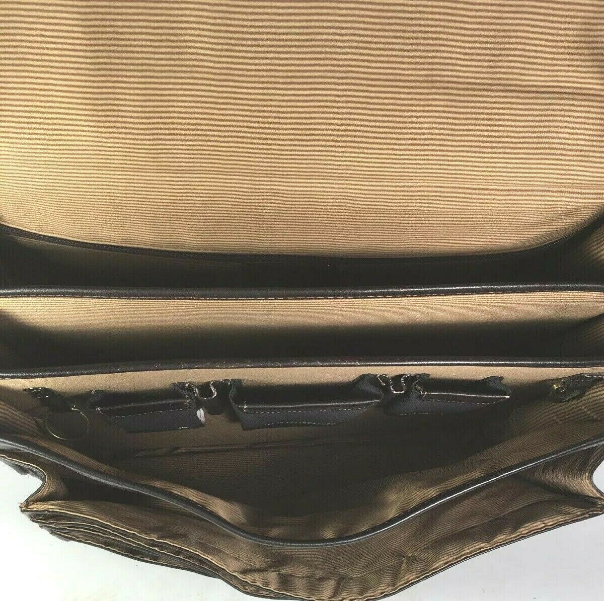 Santa Fe Dilana Vintage Dark Brown Leather Briefcase Laptop Bag – Distressed image 8