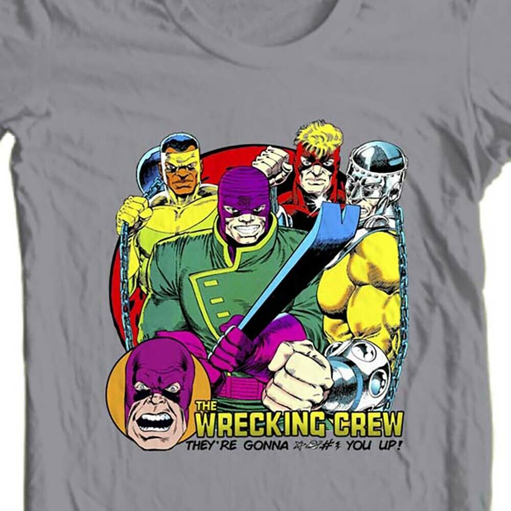 The Wrecking Crew T-shirt vintage Marvel comics villains cotton graphic tee