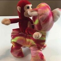 Set of 2 Plush Stuffed Animals Bear Monkey Toy Toddler Plush Multi Color - $9.83