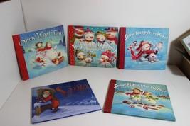 Lot of 5 HC DJ Hallmark Christmas Stories Books Snow what Fun Santa Like Home - $22.75