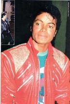 Michael Jackson teen magazine pinup clipping Rockline Bop Tiger Beat Thriller