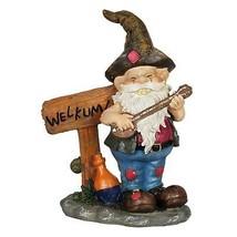 "Exhart Redneck Gnome with Welkum Sign Garden Statue Resin 9"" L x 5"" W x ... - $24.74"