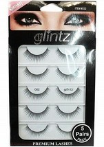 Glintz Premium Lashes 5 Pair with Eyelash Glue (332) NIP New. Free Shipping - $14.49