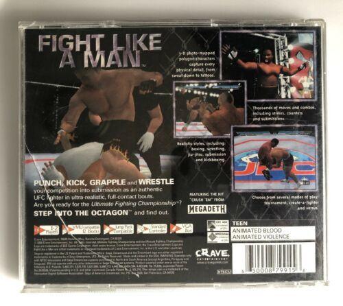 Ultimate Fighting Championship (Sega Dreamcast 2000) Complete in Case Game Works