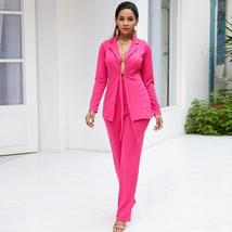 Women's Stylish Pink Blazer and Pants Fashion Wear To Work  Pant Suit