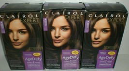 Clairol Age Defy Expert Collection Permanent Hair Color 4 Dark Brown x3 ... - $27.57