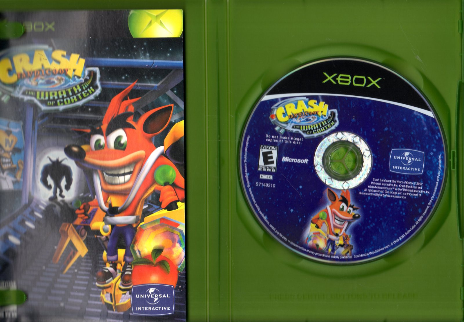 XBOX - CRASH BANDICOOT WRATH OF CORTEX