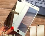2pcs/lot Front+Back Color Mirror Effect Tempered Glass Protective Film For Apple
