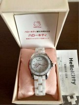 Hello Kitty 35th Anniversary Ceramic Jewelry Bianco Polso Orologio 5000 ... - $407.46