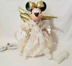 Vintage Disney MINNIE MOUSE Angel Animated Lighted Christmas Tree Topper... - $87.25