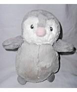 "Aurora Baby Penguin Chick Plush Stuffed Animal Grey Ivory Pink Beak 9"" - $14.73"