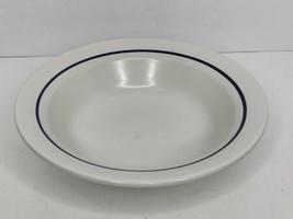 "Genuine Stoneware Japan 9.50"" Across Serving Bowl Cobalt Blue Line NO Chips - $14.84"